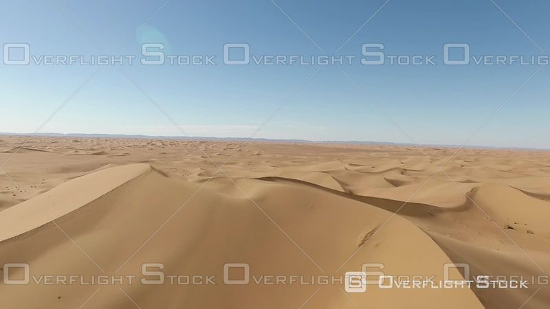 Aerial View of the Dunes of Erg Chegaga, Mhamid, Morocco - Filmed by Drone