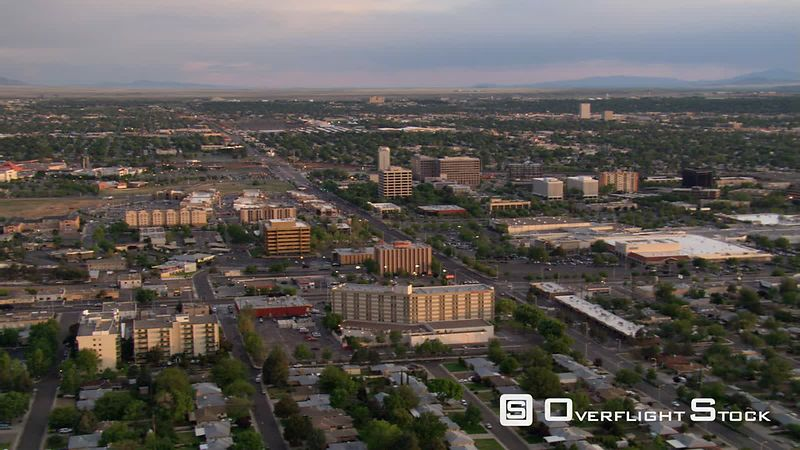 Wide view over Albuquerque toward arid plains.