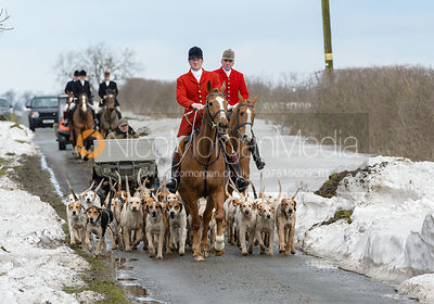 The Cottesmore Hunt at Grange Farm 6/3