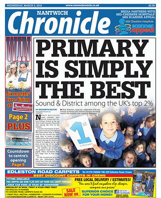 Nantwich Chronical Front page