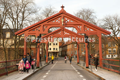 The Old Town Bridge in Trondheim Norway