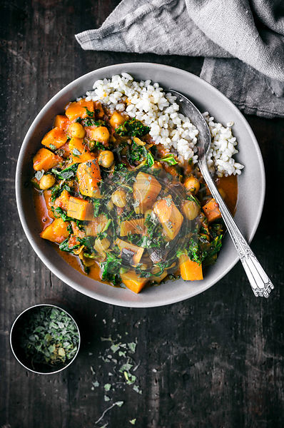 Sweet Potato, Chickpea, and Kale Curry