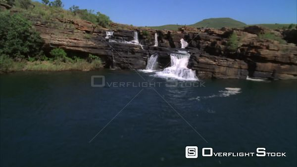 Aerial shot over waterfalls and rivers Sabie. Mpumalanga South Africa