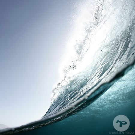 Watershot of a breaking wave, La Graciosa island, Canary islands, Spain, march 2008.