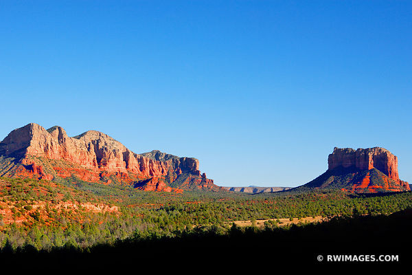 COURTHOUSE BUTTE FROM CATHEDRAL ROCK TRAIL SEDONA ARIZONA