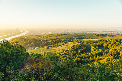 View from Kahlenberg at Vienna at sunrise, Vienna, Austria