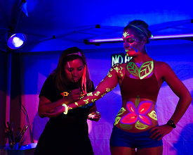 body art photography from  Art All Night (Nuit Blanche) DC 2014 (artist: Nancy Flores, http://nancyflor.es, https://www.faceb...