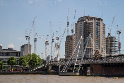 Large Scale Construction Projects on London South Bank England