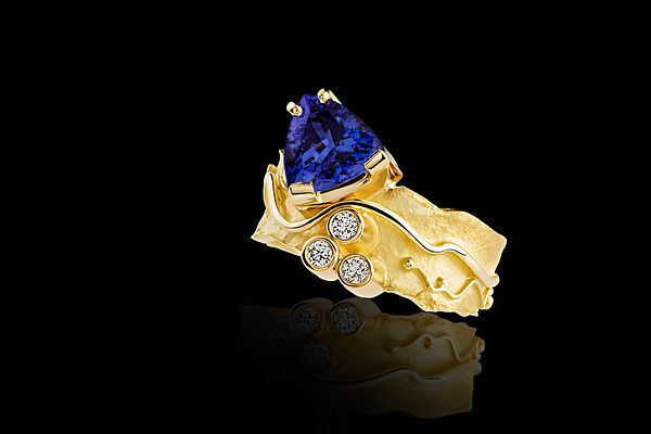 Photographe de bijoux Paris Bague Tanzanite