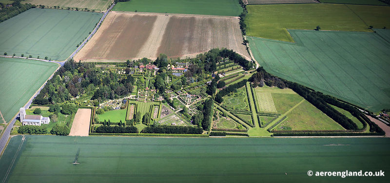 aerial photograph of East Ruston Old Vicarage Gardens Norfolk.