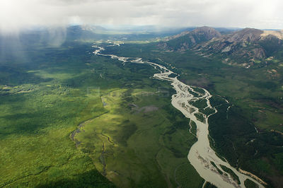 Aerial view of the Northern Rockies, Muskwa-Kechika Protected Area, British Columbia, Canada June/July 2011 .