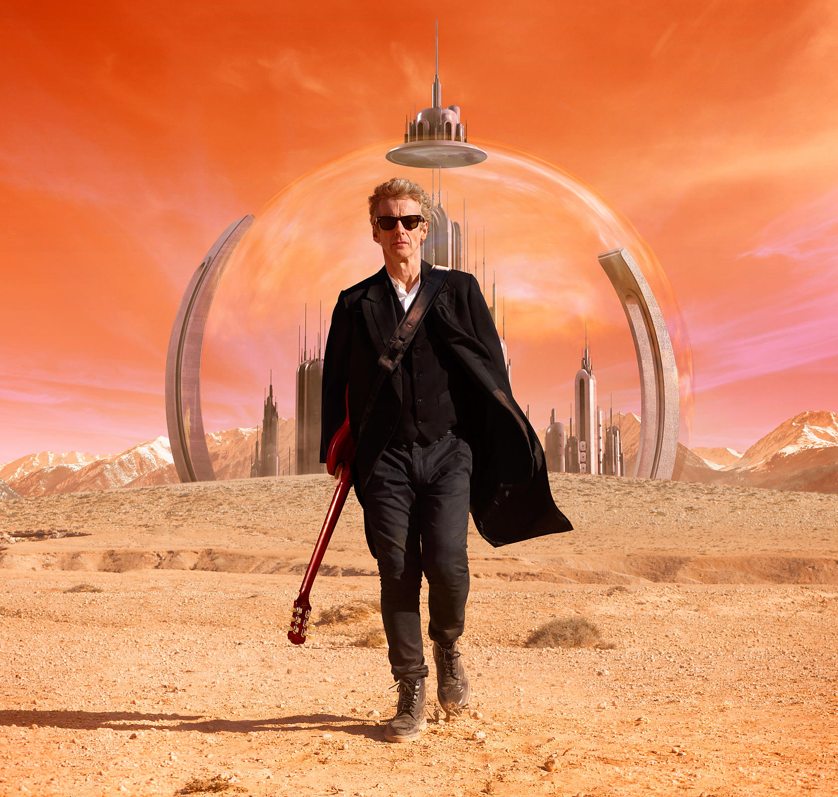 Doctor Who Series 9, Peter Capaldi, TV publicity still
