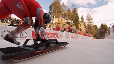 Skeleton World Cup Racer Barbara Hosch SMBC on Bob Run Saint St. Moritz
