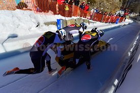 FIBT Bob World Cup 4Men in Olympia Bob Run in St. Moritz