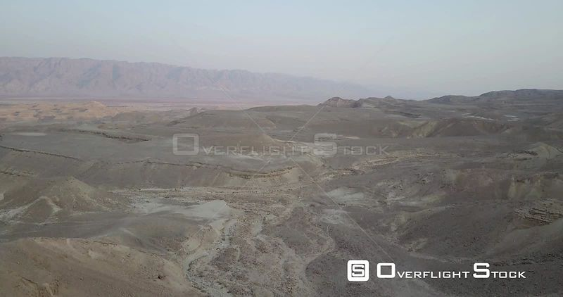 Flying over Negev desert Israel