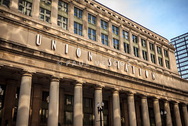 Chicago Union Station Building and Sign