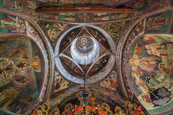 Detail of the Ceilinjg of Sucevita Monastery