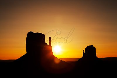 Golden Sunrise in Monument Valley National Park