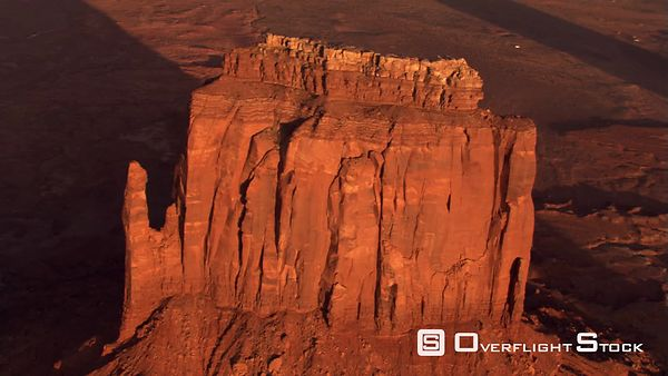 Partial orbit of East Mitten Butte in Monument Valley
