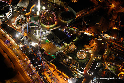 aerial photograph of Blackpool Pleasure Beach Lancs England UK