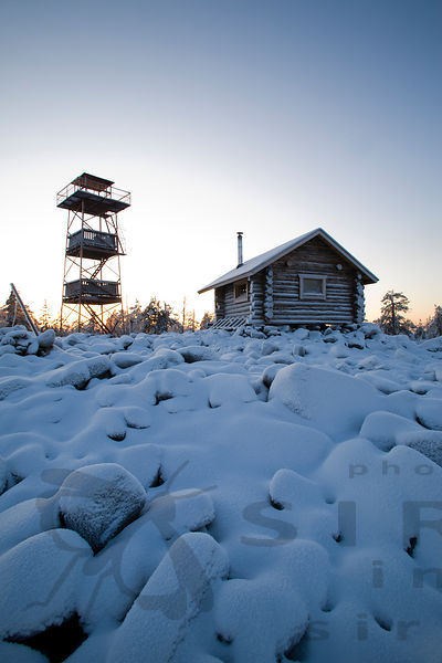 Open Wilderness Hut and Observation Tower of Kivalo