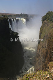 Main Falls from the west, Victoria Falls, Zimbabwe and Zambia