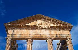 The pediment of the Capitol atDougga; Tunisia; Landscape
