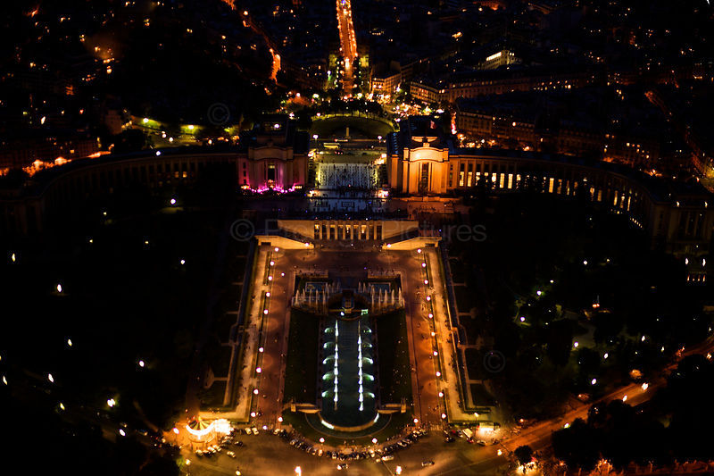 High Angle View of the Jardin du Trocadero