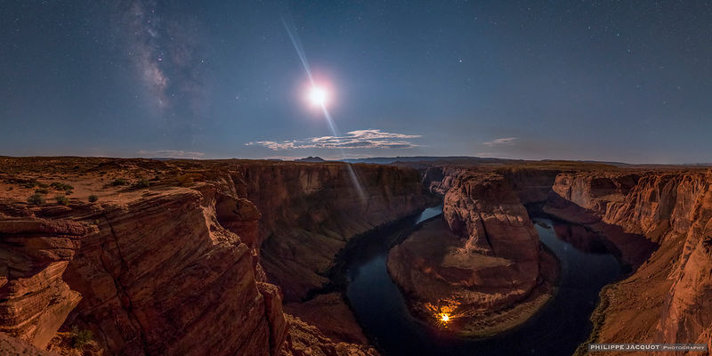 A bivouac in Horseshoe Bend - Arizona
