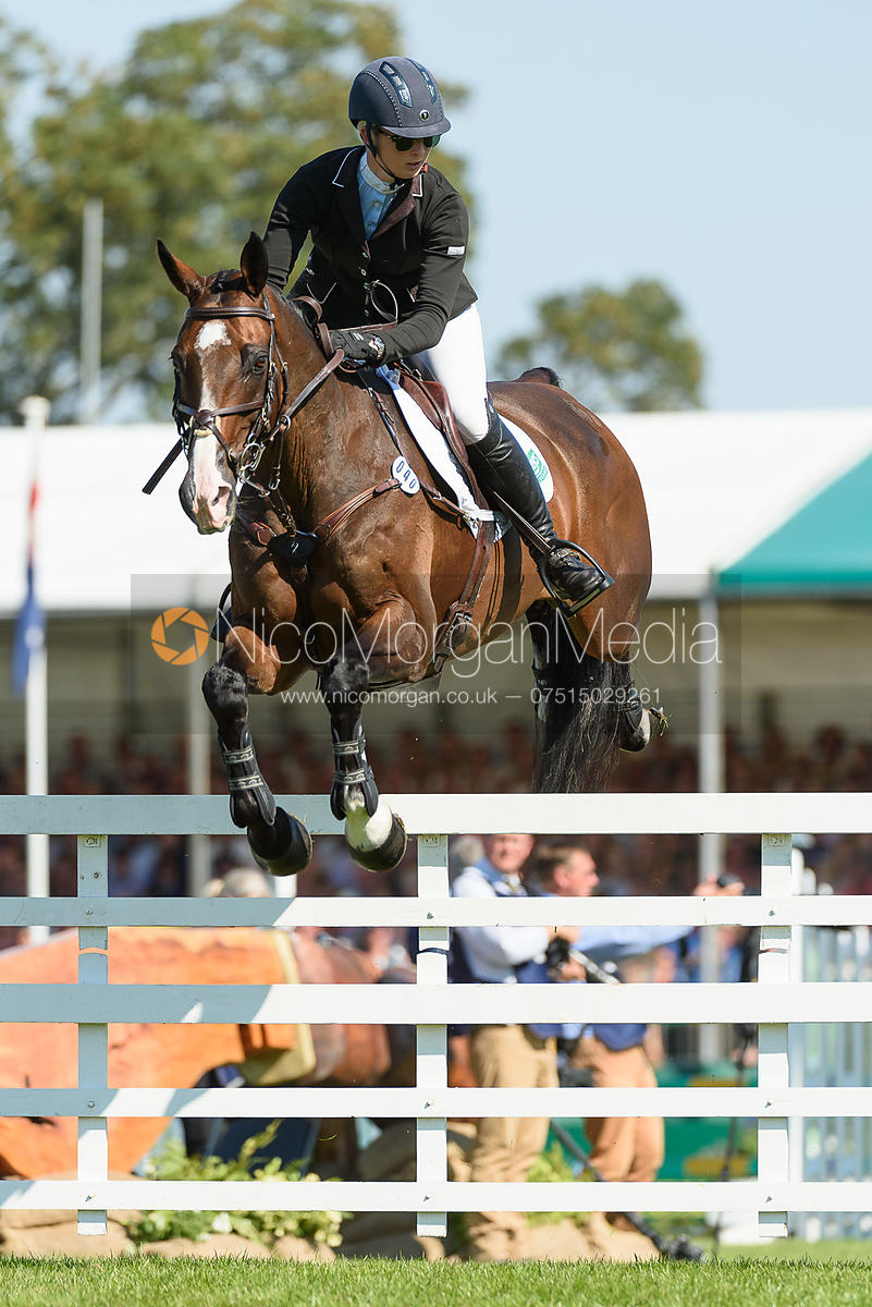 Georgie Spence and WII LIMBO, showjumping phase, Land Rover Burghley Horse Trials 2018