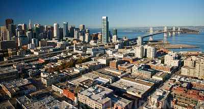 Aerial photograph of the San Francisco Skyline