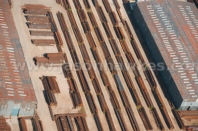 Aerial view of metal plant works