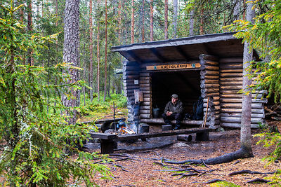 Shelter in Arctic Circle Hiking Area