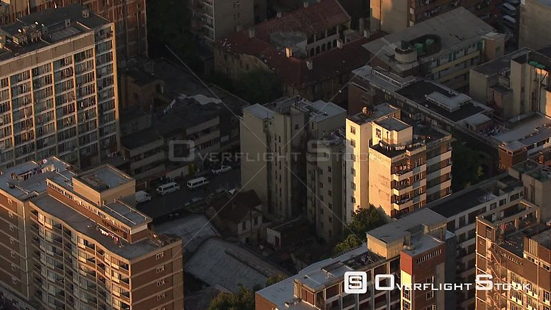 Aerial shot of buildings in the Johannesburg city centre Johannesburg Gauteng South Africa