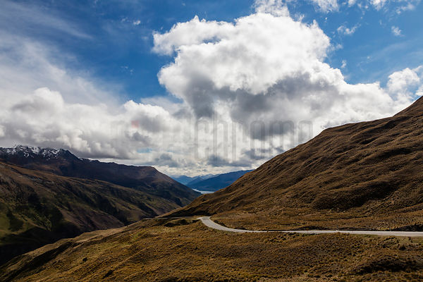 Scenic Road to Glenorchy from Lake Wanaka