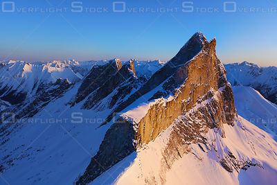 Sunset The Leaning Towers Purcell Mountains BC Canada
