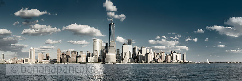 Lower Manhattan skyline from New Jersey, New York - BP4485
