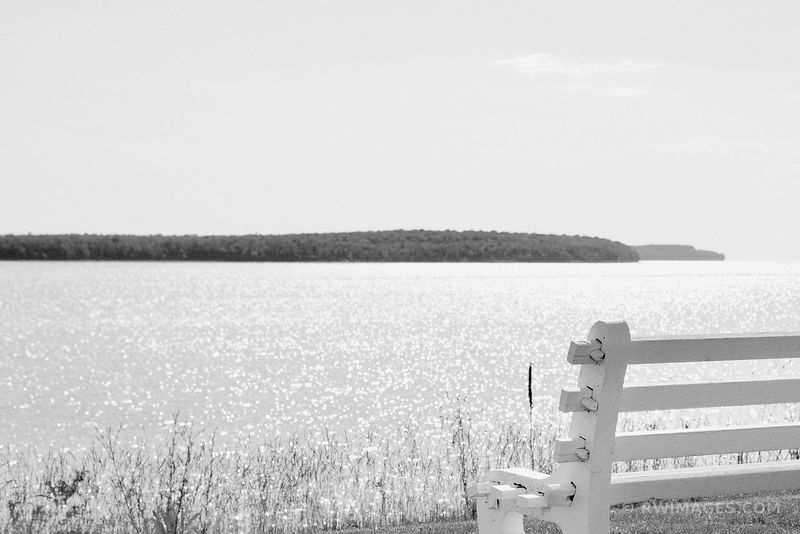 ROCK ISLAND STATE PARK DOOR COUNTY WISCONSIN SUMMER BLACK AND WHITE