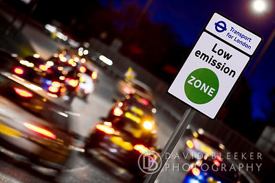LEZ Low emission Zone, London