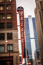 Chicago Cadillac Palace Theatre Sign