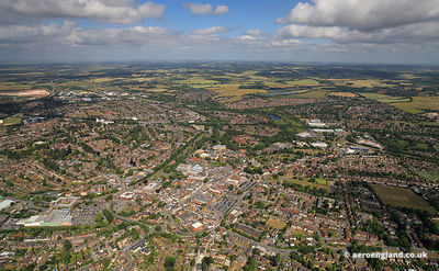 aerial photograph of Andover  Hampshire   England UK