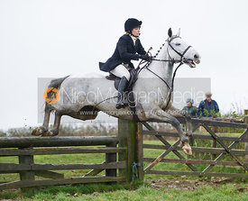 Hilary Butler jumping fences at Stone Lodge Farm - The Cottesmore at John O'Gaunt 24/11/12
