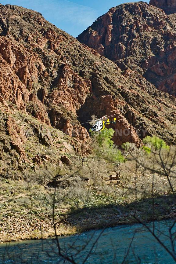 Helicopter Leaving Phantom Ranch