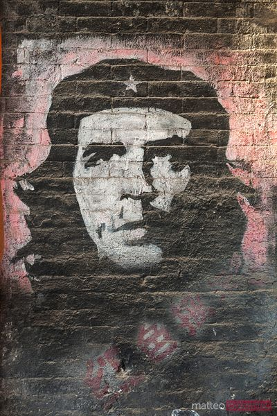 Che Guevara on a murales in Pingyao, China