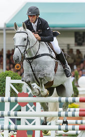 Andrew NIcholson and AVEBURY - show jumping phase, Burghley Horse Trials 2013.