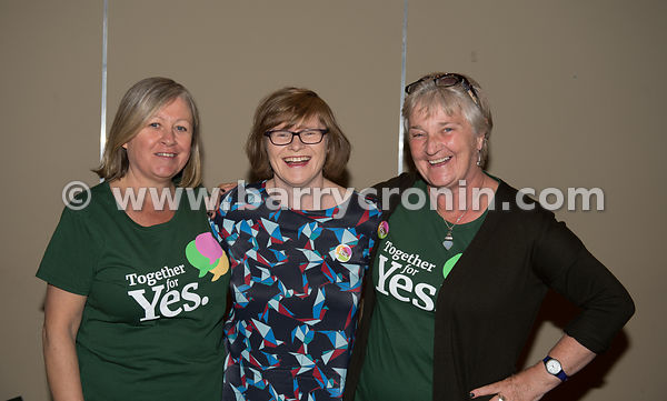 NO REPRO FEES - 11th May, 2018. Pictured at the 'Get Together For Yes' tour in Tralee were volunteers and supporters.Orla O'C...