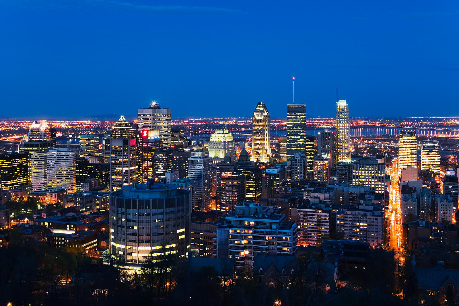 View From Mount Royal, Montreal, Quebec, Canada
