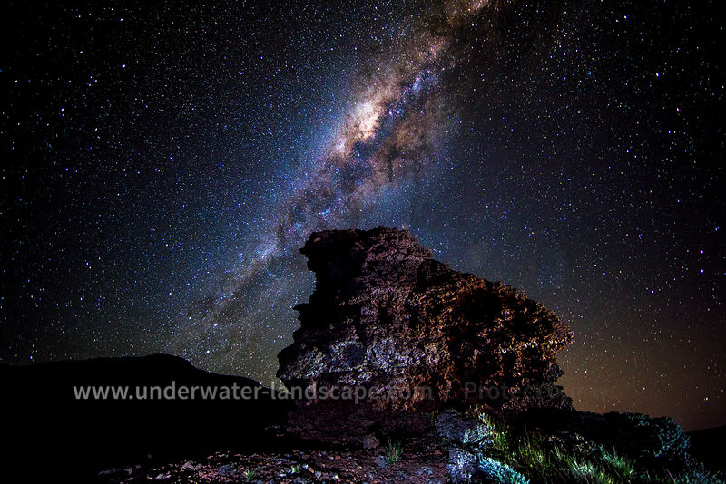 Milky way from la reunion island
