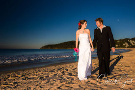 Beach Wedding Couple portrait
