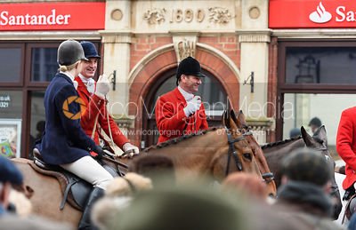 Major Tim Brown At the meet. The Cottesmore Hunt Boxing Day Meet in Oakham 26/12